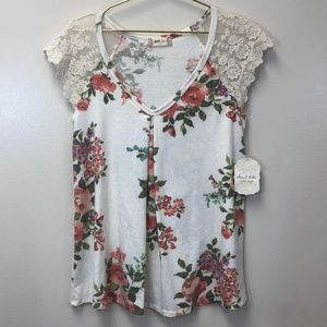 Altar'd State Lace Floral Top, NWT